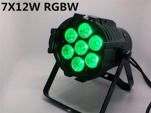 أحدث تصميم LED الاسمية يمكن 7x12W سبائك الألومنيوم LED الاسمية RGBW 4 في 1 DMX512 غسل مرحلة دي جي أضواء الكرة ديسكو أضواء LED بقعة DJ