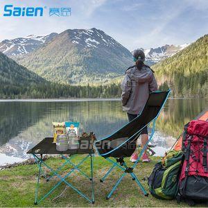 Sedia da campo pieghevole innovativa, schienale alto, poggiatesta, Super Comfort Ultra Light Heavy Duty, perfetto per lo zaino in spalla / Escursionismo / Pesca / Spiaggia