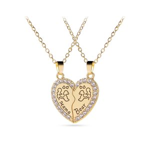 Hot Mama Bear Heart Collane Sets Splicing Love Pendant Madre e figlia Fashion Jewelry per le donne Accessori per bambini