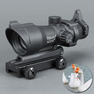사냥 Trijicon ACOG 1X32 망원 조준경 적색 / 녹색 점 레이저 시력 20mm 마운트 범위 시력