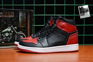 Üst 1 NRG OG Yüksek Basketbol ayakkabıları erkekler Siyah Ayak Satmak Için Değil 1 s Sneakers erkek Hiçbir L 's Siyah sarı çizmeler boyutu US7-11