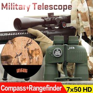E. T Verde Dragão Tactical Compass Rangefinder Telescópio Ao Ar Livre 7x50 Binocular Caça Telescópio Frete Grátis CL3-0043