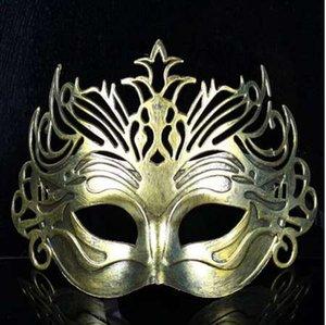 Roman Soldier Male Filigree Laser Cut Men Venetian Masquerade Eye Máscaras Party Halloween Cosplay Wedding Mardi Gras Ball Máscaras