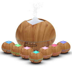 400 ml umidificatore in legno di legno umidificatore di legno umidificatore ad ultrasuoni umidificatore ad ultrasuoni aroma essenziale diffusore di olio essenziale fabbricante portatile con led a 7 colori