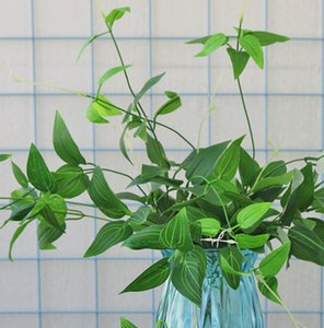 4 tenedor 96cm clematis hojas simulación colgante de pared de la rotura madreselva artificial decoración de la hoja
