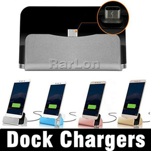 Type-C Micro V8 Dock Charger شحن Sync Desktop USB 2.0 Cradle Station for Galaxy S9 LG HTC Smartphone with package