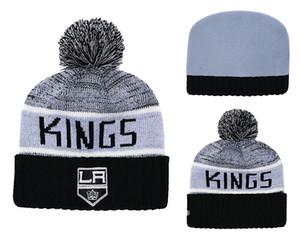 1 piece A buon mercato 2019 nuovi tifosi Negozio Los Angeles Kings Sport Cuffed Cappello di lana di modo di marca Hockey Tutte le squadre CapitalSport Beanie Cappelli Ossa