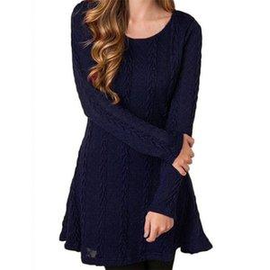 İlkbahar ve sonbahar dönemi yeni hız dört renk kazak uzun kollu elbise satışı (çok sayıda