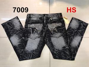 Ücretsiz Kargo Yüksek kaliteli Mens Robin Rock Revival Jeans Kristal Studs Denim Pantolon Tasarımcı Pantolon Erkek büyüklüğü 30-42 Yeni cvfb