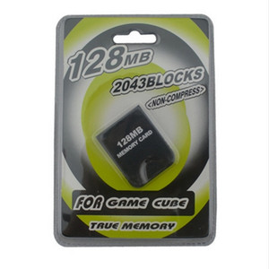 عملي 32 ميجابايت 64 ميجابايت 128 ميجابايت موفر لتخزين بطاقات بطاقات الذاكرة لـ NGC CameCube Game Cube GC Console Blister Packaging جودة عالية FAST SHIP