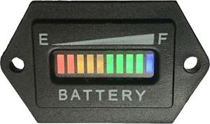 Hexágono 10 bar LEVOU Medidor Da Bateria Digital Indicador de carga Indicador de carga da bateria Para Carrinho de Golfe, empilhadeira, varredor. 12 V 24 V 36 V 48 V 60 V