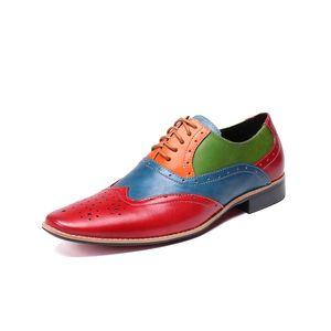 Christia Bella Modern Gentlemen Oxfords formale in vera pelle Mens Wedding Party Celebrate Dress Shoes Uomo Wingtip Brogue Shoe