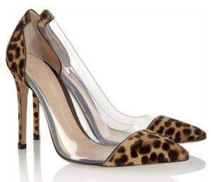 2018 новых женщин леопарда высокие каблуки тонкий каблук заклепки насосы партия обувь Спайк шпильки насосы платье обувь леопарда обувь