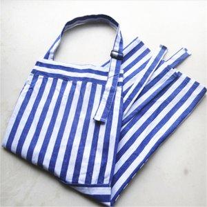 1 pcs new Product Blue Stripe Apron Household Kitchen Adult Sleveless regulable Shoulder Strap 65 * 75cm.