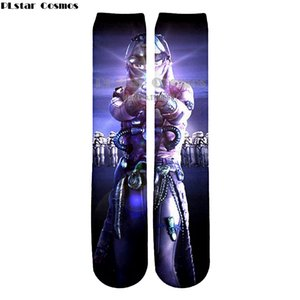 YX GIRL moda Divertenti calzini di cotone uomo Donna Crew long happy calze mens winter warm Cartoon print flag