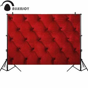 Al por mayor rojo copetudo fotografía telón de fondo del lecho vintage fondo photocall photoshoot prop estudio decoración personalizada photobooth