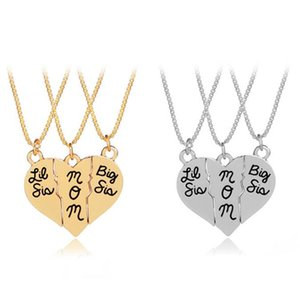 Grand sis maman coeur collier porte-clé en alliage pendentif collier amour collier de mode bijoux pour cadeau de fête des mères