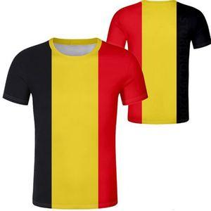 BÉLGICA masculina juventud camiseta personalizada nombre personalizado bel belgica belgien camiseta negra be french belgie impresión foto bandera de la nación ropa