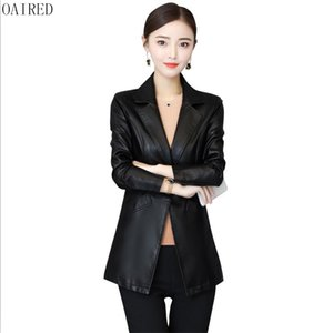 OAIRED Plus Size Motorcycle Leather Clothing Female Outerwear Spring 2018 New Women Leather Jacket Short Slim Coat Women