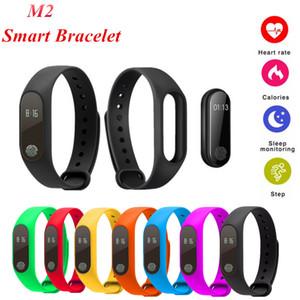 M2 Smart Armband Fitness Tracker Pulsmesser Wasserdicht Aktivitäts Tracker Smart Band Schrittzähler Anruf Erinnern Gesundheit Armband mit OLED