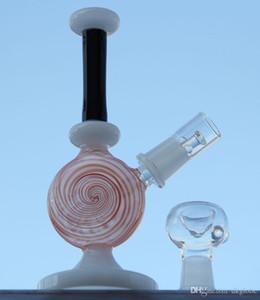 sest Nouveau trois couleurs Pipe à eau Mini bang en verre plate-forme pétrolière dab fumer pipe pipe en verre ont clou dôme bol with14.4 mm joint