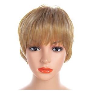WW2-08 # kısa saç peruk baş seti, kıvırcık saçlar, kısa bayan, peruk kapağı, Avrupa ve Amerikan moda peruk başlık.