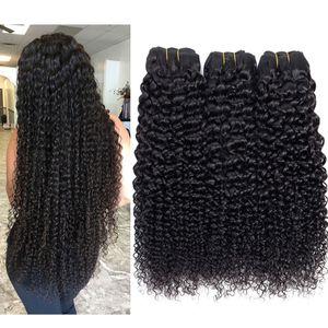 Paquetes de pelo virginal brasileño Onda del cuerpo Onda de agua recta Onda profunda Rizado Rizado Cabello humano 8A Peruano Malasio de armadura de cabello humano de Malasia