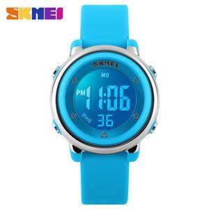 SKMEI Nueva Moda Deporte Niños Relojes Diseño Simple Luz de Fondo Calendario Relojes Digitales de Alarma Impermeable Reloj de Los Niños Relogio Infantil