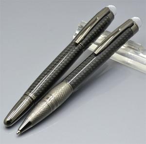 Top quality star-walker Black Fiber Carbon Roller pen penne a sfera cancelleria per ufficio affari marca Monte scrivere penna refill regalo liscio