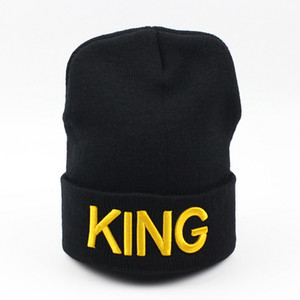 New Design Königin KING Bonnet Sweety Paar Skullies Beanies Hüte Mann Frau Wolle gestrickt Marke Bonnet Valentinstag-Geschenk Cap