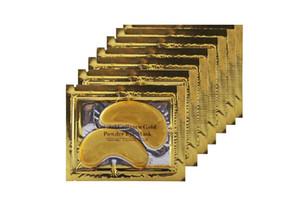 top selling Anti-Wrinkle NEW Crystal Collagen Gold Powder Eye Mask Golden Mask stick to dark circles Free Shipping