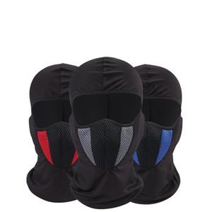 Protección del casco Máscara de cara completa Motocicleta Tactical Airsoft Paintball Ciclismo Máscaras de esquí de la bici Creativo A prueba de polvo Sombrero 13 8xg ff