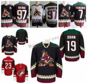 Camisetas de hockey de los Coyotes de Arizona 19 Shane Doan 23 Oliver Ekman-Larsson 97 Jeremy Roenick 7 KEITH TKACHUK Camisetas con costuras clásicas