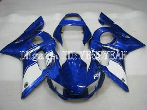 Kit de carenado de motocicleta para YAMAHA YZFR6 98 99 00 01 02 YZF R6 1998 2002 YZF600 Top azul blanco Carenados conjunto + Regalos YM06