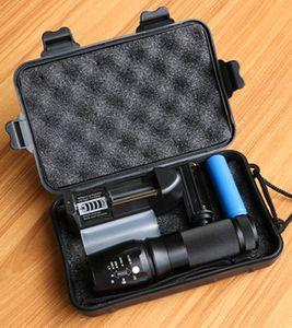 HOT Poderosa X800 LED Flashligh CREE XM-L2 4000 Lumens LEVOU Tocha Zoomable Lanterna Lâmpada LED + Bateria + Carregador 878 Lanterna