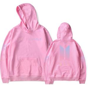 El último diseño Kpop sudaderas con capucha de la manera de la pareja sudadera con capucha hombres mujeres chándal Harajuku ropa al por mayor envío gratuito