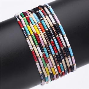 2018 Cheap mano Miyuki Seed borda il braccialetto di estate delle donne dei braccialetti dei monili i fascini di moda a mano (colore casuale)