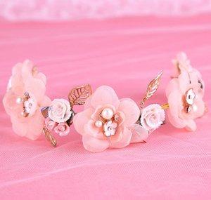 Couvre-chefs faits main pour la mariée, mariées de mariée, fleurs, bandeaux pour les cheveux, ornements de tête, perceuse à eau perlée et accessoires de mariage sauvages.