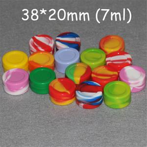Toptan 3mL 5ml 7mL 22ml Yapışmaz Silikon Kavanoz Dab Wax Konteynerleri İçin Mum Silikon Kavanozları silikon yağı FDA LFGB Testi kuleleri