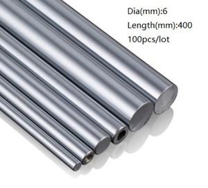 100 teile / los 6x400mm Dia 6mm lineare welle 400mm lange gehärtete wellenlager verchromt stahlstange bar für 3d drucker teile cnc router