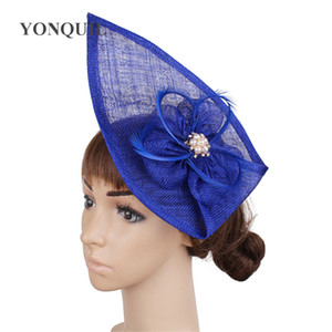 Fascinating 17 colors available sinamay material fascinator hair accessories dance hat race millynery free shipping FNR160303