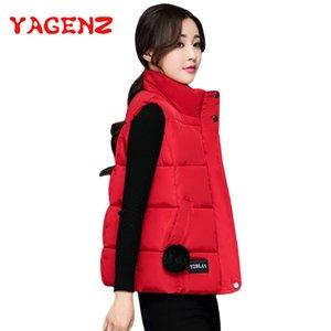 YAGENZ Vers le bas coton veste femmes veste d'automne et d'hiver manteau femmes gilet court étudiant manteau twotwinstyle sans manches