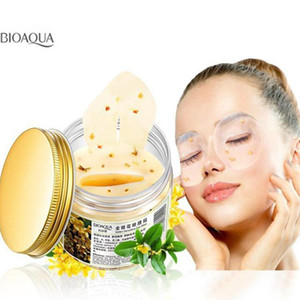 80pc per bottle BIOAQUA Gold Osmanthus Eye Mask Collagen Gel Whey Protein Sleep Patches Remove Dark Circle Mousturizing Eye Mask