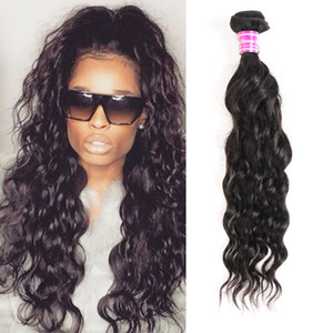 Brasiliani vergini malesi dei capelli umani Bundles Wave Wave Weave estensioni onda naturale Cheap Remy trama dei capelli per le donne nere capelli ricci tessuto