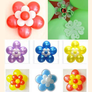 Party Wedding Decoration 10pcs lot Balloon Seal Clip That Combine 6 11 Balloons to Flower Shape Multi-Balloon Sticks Decor Accessory