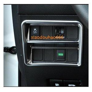 Pour Nissan Qashqai 2017 2017 Détecteur de voiture Stick Stick Cover Cover ABS Chrome Frontière Avant Switch Switch Panneau de lampe de tramage de trames de tramway 1PCS