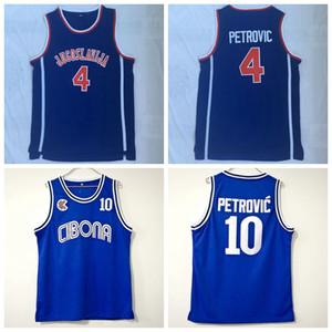 남성 드라 젠 페트로 비치 크로아티아 # 10 Cibona 농구 저지 저렴한 드라 젠 페트로 # 4 Jugoslavija 유고 슬라비아 스티치 농구 셔츠