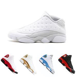 2018 Nuevos zapatos de baloncesto para hombre 13 Bred Black True Red Historia de vuelo DMP Pure Money Calzado deportivo para mujer Zapatillas de deporte 13s Gato negro