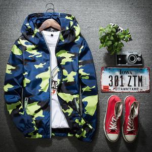 M-5XL Camo 남자 자 켓 후드 인쇄 반사 형 스웨터 특대 긴 소매 남자 Hoodies 고품질 옥외 운동복