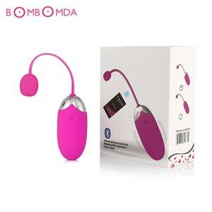 Parejas vibradoras vibrador remoto recargable inalámbrico consolador juguetes aplicación silicona vibración salto control sexo huevo para USB D18110904 Whplb